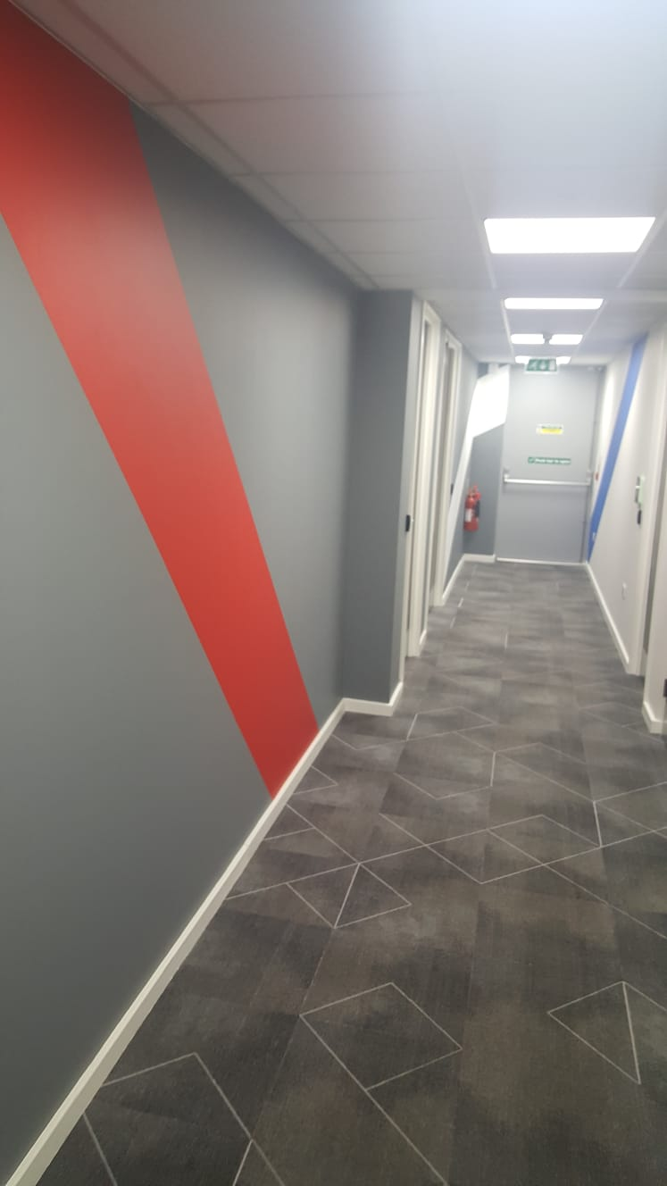 Corridor  - Painted Wide Stripes